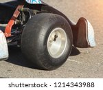 racing kart  wheel from a...   Shutterstock . vector #1214343988