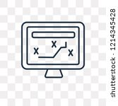 tactical vector outline icon... | Shutterstock .eps vector #1214345428
