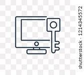 keywords vector outline icon... | Shutterstock .eps vector #1214345572