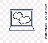 cloudy vector outline icon... | Shutterstock .eps vector #1214346025