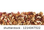 heap of mixed nuts isolated on... | Shutterstock . vector #1214347522