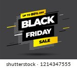 black friday sale inscription... | Shutterstock .eps vector #1214347555