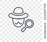 detective concept vector linear ...   Shutterstock .eps vector #1214347765