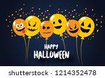 happy halloween. flying mega...   Shutterstock .eps vector #1214352478