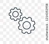 cogwheel vector outline icon... | Shutterstock .eps vector #1214352958