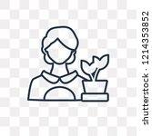 florist vector outline icon... | Shutterstock .eps vector #1214353852