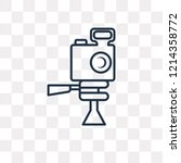 photograph vector outline icon... | Shutterstock .eps vector #1214358772