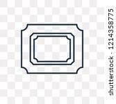 photograph vector outline icon... | Shutterstock .eps vector #1214358775