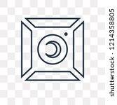 photograph vector outline icon... | Shutterstock .eps vector #1214358805