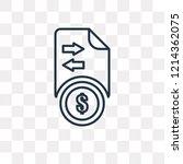 transfer vector outline icon...   Shutterstock .eps vector #1214362075
