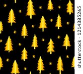 seamless pattern with gold... | Shutterstock .eps vector #1214385265