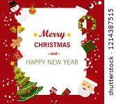 christmas concept. merry... | Shutterstock .eps vector #1214387515
