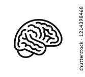 brain side view icon  intellect ... | Shutterstock .eps vector #1214398468