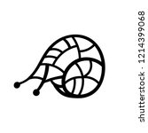 snail illustration   black... | Shutterstock .eps vector #1214399068