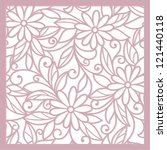 Seamless Pink Abstract  Floral  ...
