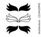 elegant angel flying wings.... | Shutterstock .eps vector #1214410945