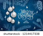 merry christmas and happy new... | Shutterstock .eps vector #1214417338