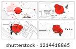 new banner templates in memphis ...   Shutterstock .eps vector #1214418865