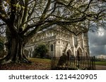 st. albans cathedral.... | Shutterstock . vector #1214420905