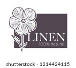 linen natural 100 hundred... | Shutterstock .eps vector #1214424115