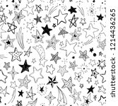 beautiful seamless pattern hand ... | Shutterstock . vector #1214436265