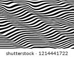 black and white wave stripe... | Shutterstock .eps vector #1214441722