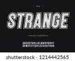 vector bold strange alphabet... | Shutterstock .eps vector #1214442565