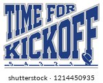 football   time for kickoff is... | Shutterstock .eps vector #1214450935