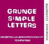 distressed grunge alphabet....   Shutterstock .eps vector #1214460598