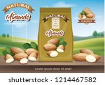 almond nuts pack | Shutterstock .eps vector #1214467582