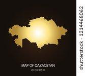 gold map of qazaqstan qazaqstan ... | Shutterstock .eps vector #1214468062