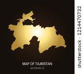 gold map of tajikistan... | Shutterstock .eps vector #1214470732