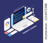 website development ... | Shutterstock .eps vector #1214472388