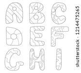 Cartoon Alphabet Coloring Book...