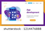 flat design concept on...   Shutterstock .eps vector #1214476888