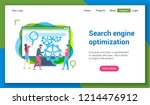 flat design concept on search...   Shutterstock .eps vector #1214476912