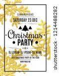merry christmas party flyer.... | Shutterstock .eps vector #1214488282