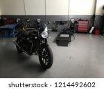 motorbike garage in phitsanulok ...   Shutterstock . vector #1214492602