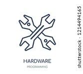 hardware icon. hardware linear... | Shutterstock .eps vector #1214494165