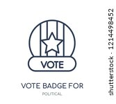 vote badge for political...   Shutterstock .eps vector #1214498452
