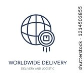 worldwide delivery icon.... | Shutterstock .eps vector #1214503855