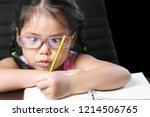 asian child or kid girl... | Shutterstock . vector #1214506765