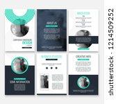 abstract flyer design...   Shutterstock .eps vector #1214509252