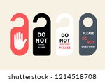 hotel hanger sign  door knob.... | Shutterstock .eps vector #1214518708