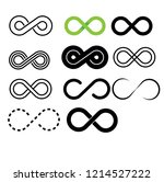 inifinity symbol icons set... | Shutterstock .eps vector #1214527222