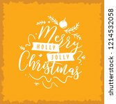merry christmas. typography.... | Shutterstock .eps vector #1214532058