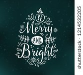 Merry Christmas. Typography....