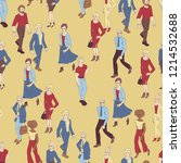 seamless pattern with business... | Shutterstock .eps vector #1214532688