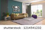 interior of the living room. 3d ... | Shutterstock . vector #1214541232