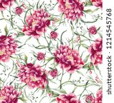 beautiful pattern with big... | Shutterstock . vector #1214545768